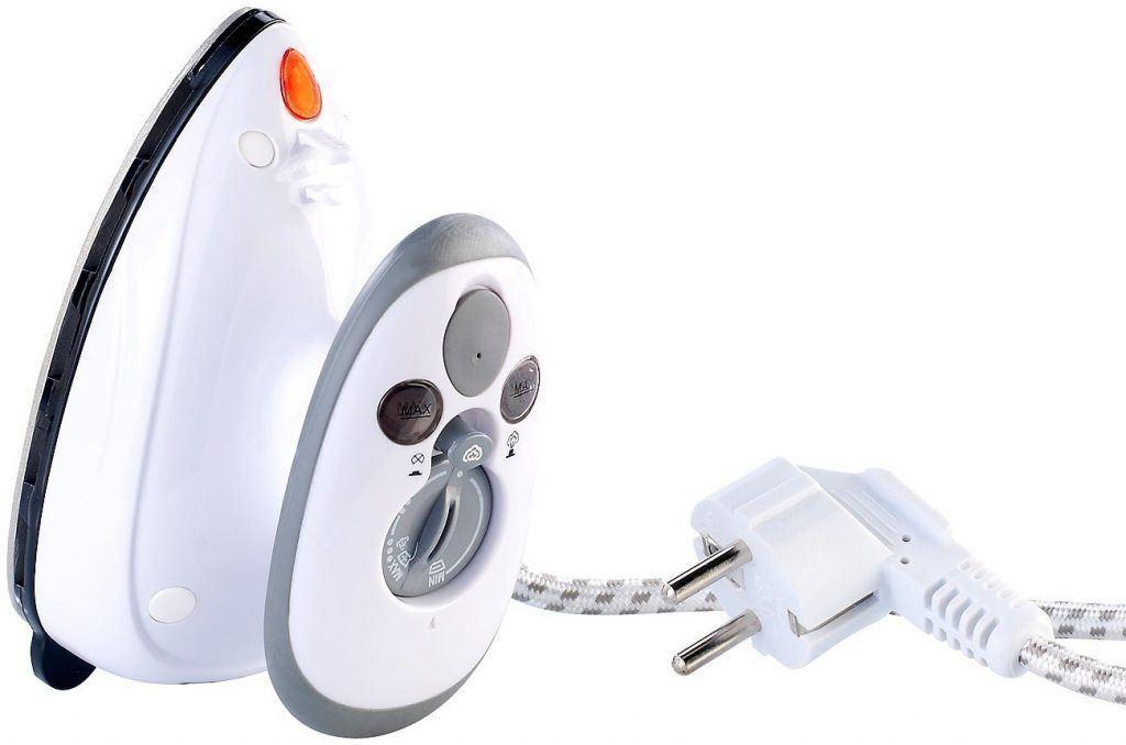 Sichler Haushaltsgeräte Reise Dampf Bügeleisen: Reise-Dampfbügeleisen für Reise & Urlaub, 230 V & 110 V (Mini Bügeleisen)